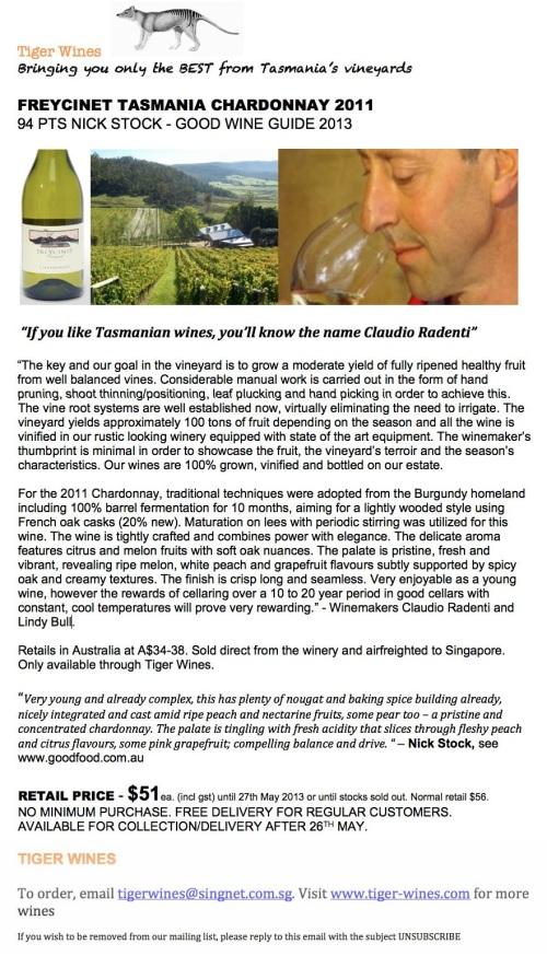 2011 Freycinet Chardonnay